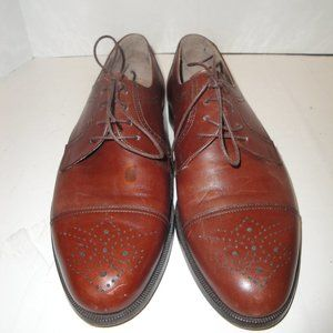 Bally Brown Leather Oxfords